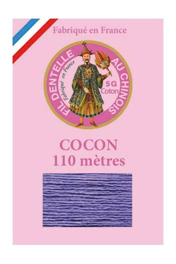 Coloured lace cotton thread Calais Cocoon 6613 - Dark mauve