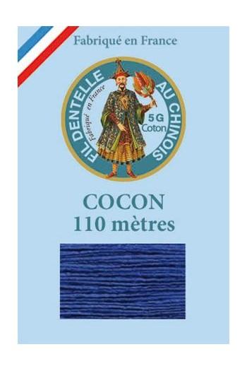 Fil dentelle couleur Cocon Calais coton uni 6790 - Bleu roy