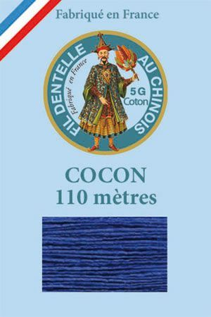 Coloured lace cotton thread Calais Cocoon n° 6790 - Royal blue