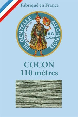 Coloured lace cotton thread Calais Cocoon n° 6803 - Almond green