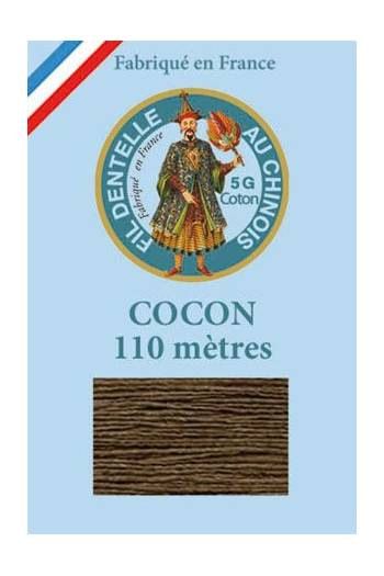 Coloured lace cotton thread Calais Cocoon 6213 - Chocolate