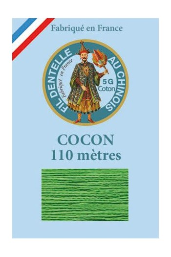 Coloured lace cotton thread Calais Cocoon 6871 - Lawn