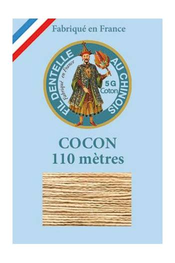 Coloured lace cotton thread Calais Cocoon 6266 - Putty