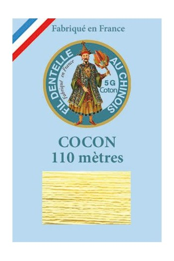 Coloured lace cotton thread Calais Cocoon 6322 - Sulphur