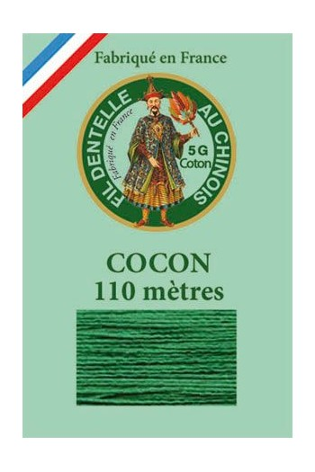 Coloured lace cotton thread Calais Cocoon 6867 - Green