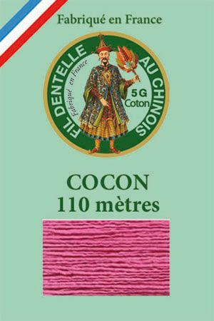 Coloured lace cotton thread Calais Cocoon n° 6573 - Old rose