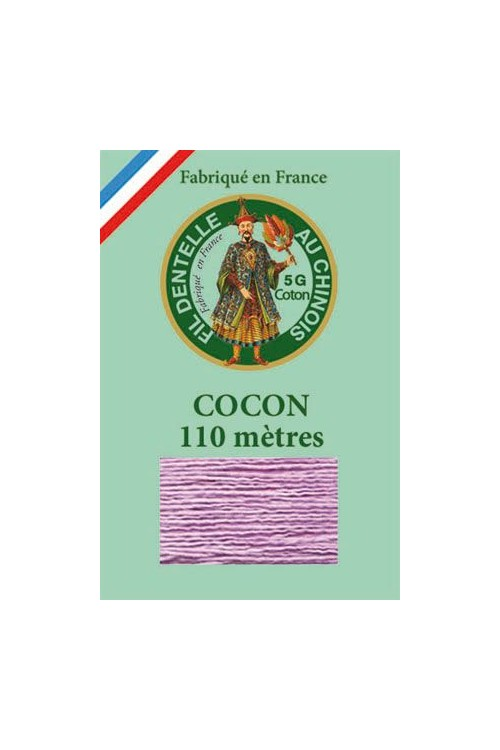 Coloured lace cotton thread Calais Cocoon 6603 - Mauve