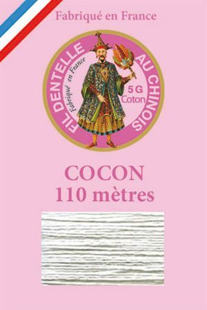 Coloured lace cotton thread Calais Cocoon n° 6108 - Light grey