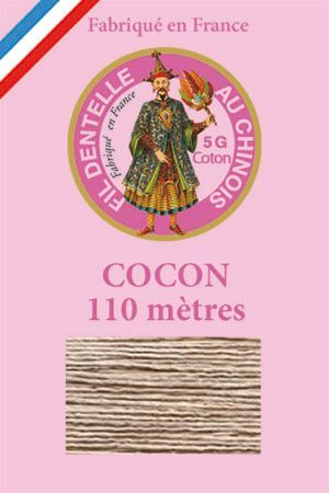 Coloured lace cotton thread Calais Cocoon n° 6245 - Resin