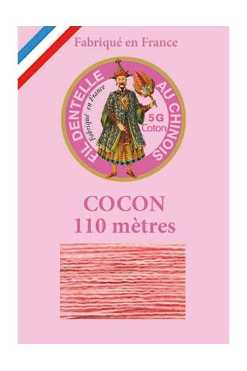 Coloured lace cotton thread Calais Cocoon 6562 - Coral