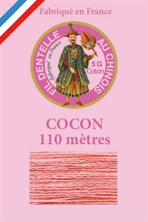 Coloured lace cotton thread Calais Cocoon n° 6562 - Coral