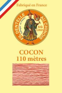 Coloured lace cotton thread Calais Cocoon 6598 - Salmon