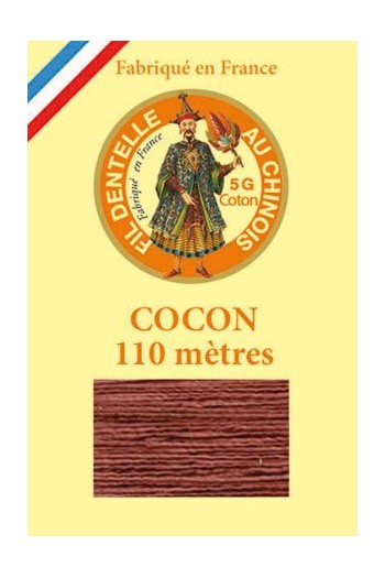 Coloured lace cotton thread Calais Cocoon 6440 - Chestnut