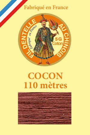 Coloured lace cotton thread Calais Cocoon n° 6440 - Chestnut