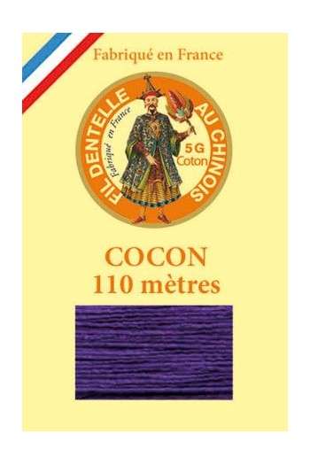 Coloured lace cotton thread Calais Cocoon 6631 - Violet