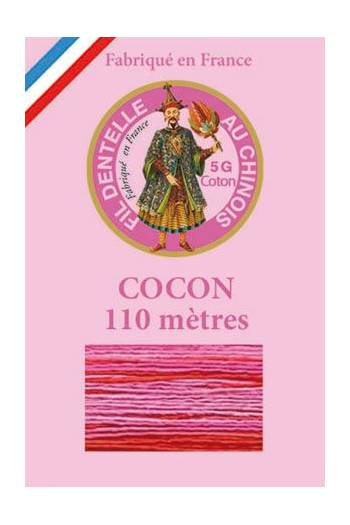 Calais cocoon cotton variegated thread 6944 Raspberry ripple