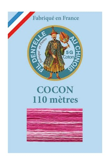 Calais cocoon cotton variegated thread 6931 - bonbon