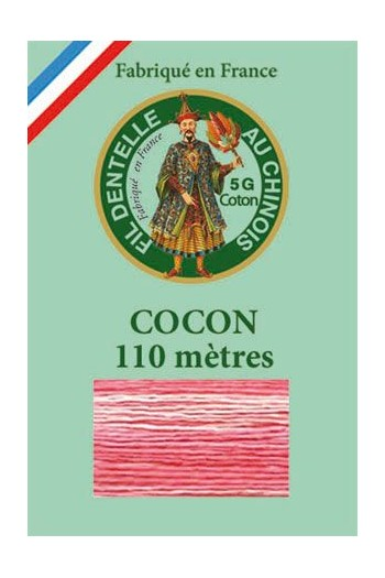 Calais cocoon cotton variegated thread 6930 Sugared almond