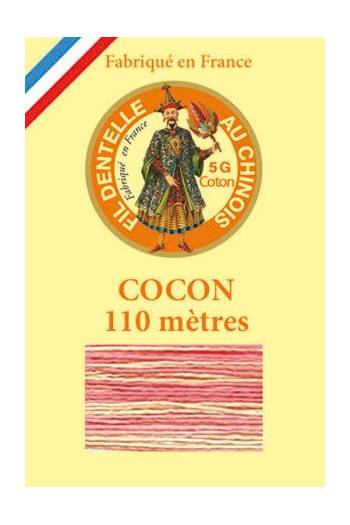 Calais cocoon cotton variegated thread  6942 - Pear drop