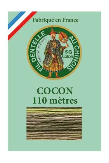 Calais cocoon cotton variegated thread 6949 - Hay