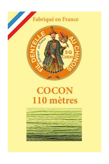 Calais cocoon cotton variegated thread 6935 - Avocado