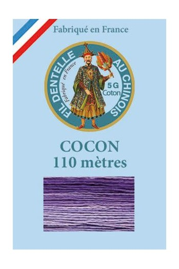 Calais cocoon cotton variegated thread 6945 - Pansy
