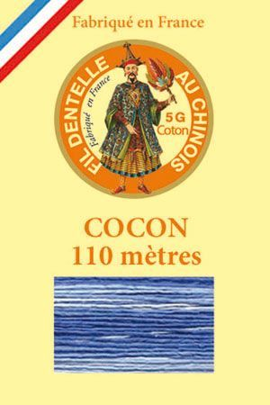 Calais cocoon cotton variegated thread 6947 - Ocean
