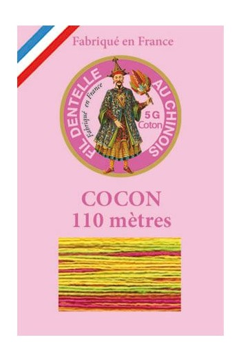Calais cocoon cotton variegated thread 6923 - Harlequin
