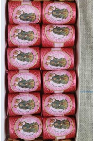 12 lace thread Calais cocoons box 6573 - Old rose