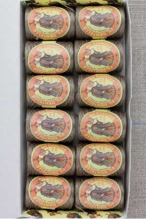 12 lace thread Calais cocoons box 6253 - Light brown
