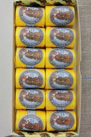 12 lace thread Calais cocoons box 6342 - Yellow