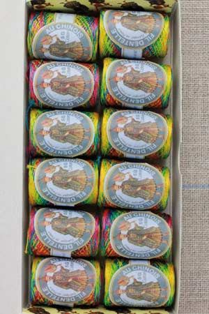 12 Calais Cocoons box variegated lace thread 6924 - Brighton rock