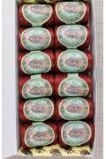 12 Calais cocoons box colour lace thread 6549 - Dark red