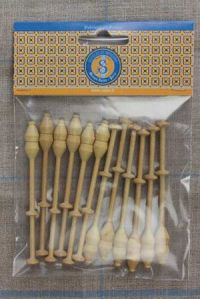 Lacemaking bobbins by twelve