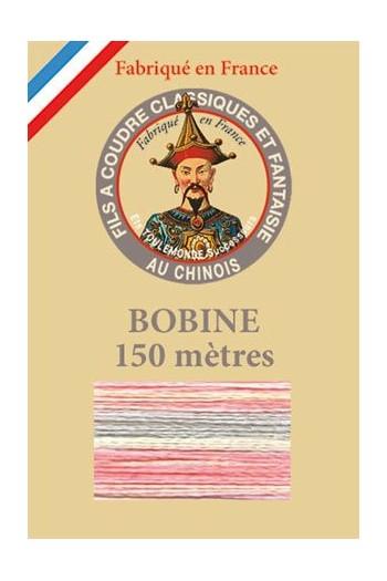 11 - Fil Multicolore brillant n° 146 - rose-gris
