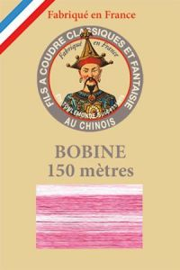 Fil dégradé brillant - bobine 150 m - Col. 115 - Rose