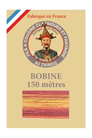 Fil Multicolore brillant bobine 150 mètres 109 - Rouge/Or