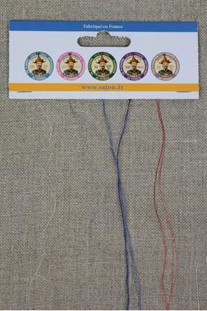 Fil Au Chinois sewing threads thickness sample card