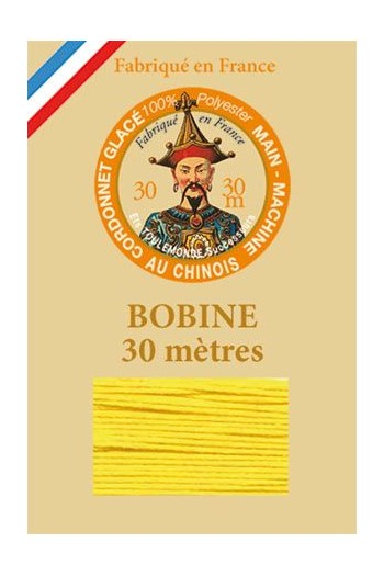 Waxed polyester thick Cordonnet thread - Col. 350 - Yellow