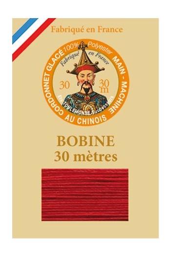 Fil Cordonnet polyester glacé Coloris 525 - Rouge