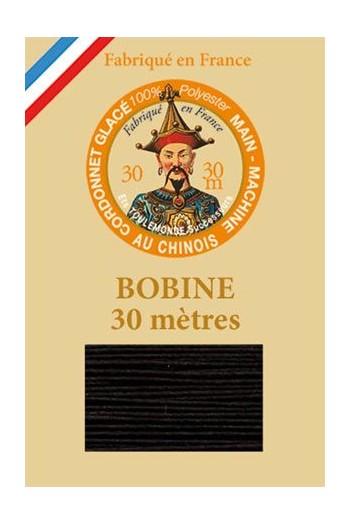 Fil Cordonnet polyester glacé Coloris 180 - Noir
