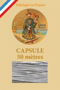 Waxed linen thread size 40 50m capsule - Col. 115 - Pale Grey