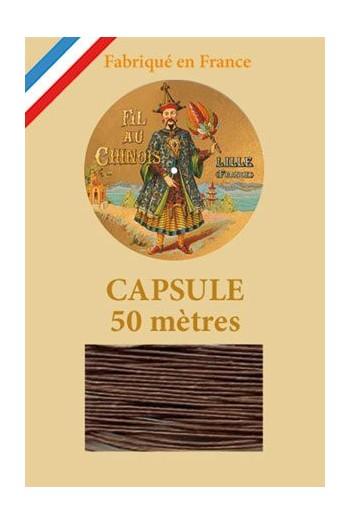 Fil de lin glacé n°40 capsule 50 mètres Col. 205 - Havane
