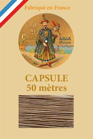 Waxed linen thread size 40 50m capsule - Col. 250 – Beige