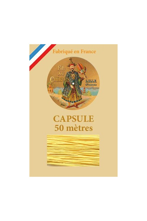 Waxed Linen thread size 40 - 50m capsule Col.363 - Yellow