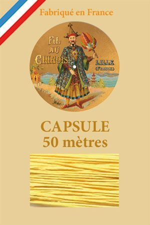 Waxed linen thread size 40 50m capsule - Col. 363 – Yellow