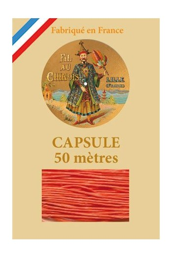 Waxed Linen thread size 40 - 50m capsule Col.380 - Tango