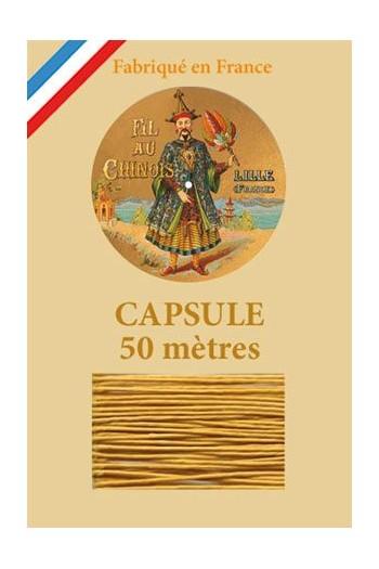 Fil de lin glacé n°40 capsule 50 mètres Col. 405 - Vieil Or