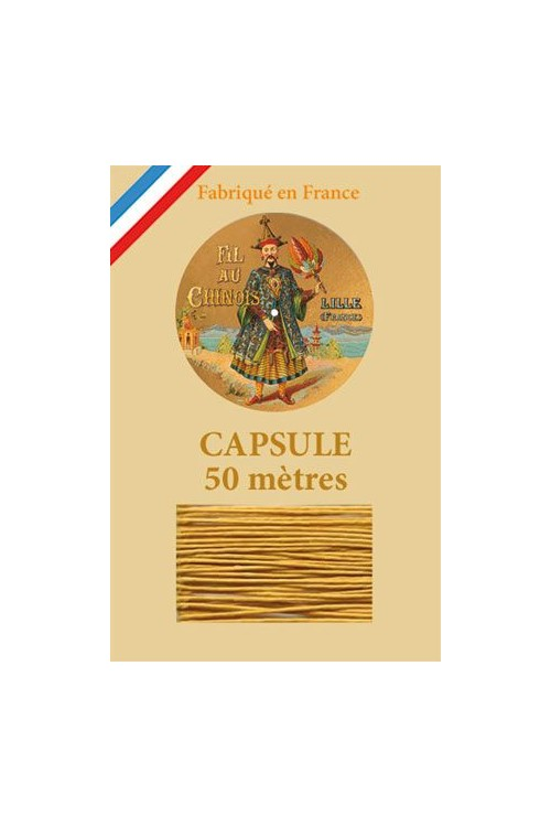 Waxed Linen thread size 40 - 50m capsule Col.405 - Golden Yellow
