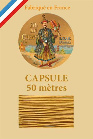 Waxed linen thread size 40 50m capsule - Col. 405 – Golden yellow